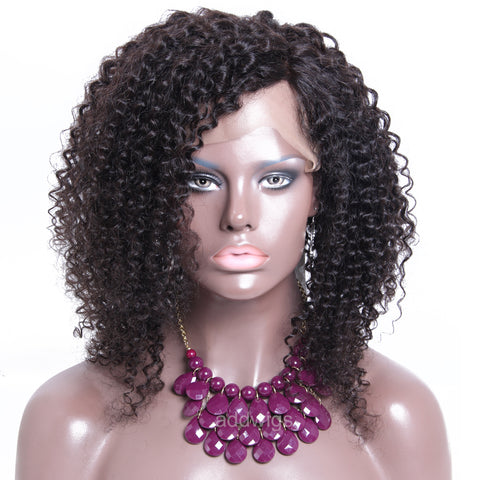 Kinky Curly Short Full Lace Wig 130% Density Human Hair Wigs