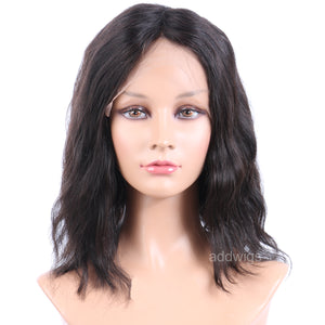 10 inch Short Bob Wig 100% Human Hair Full Lace Wigs Natural Wavy
