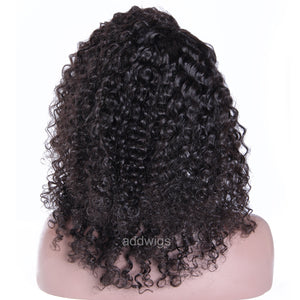 Fashion Lace Front Wig Tight Curly Human Hair Wigs For Black Women