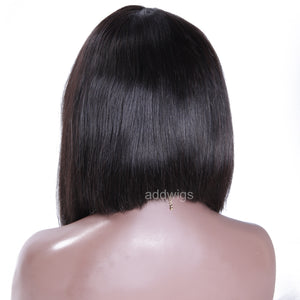 Side Part Lace Front Wigs Short Bob Human Hair Wigs