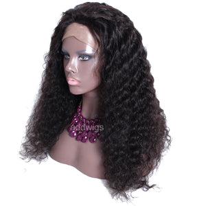 Lace Front Wigs Deep Curly Human Hair Wigs Natural Color