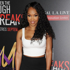 Malika haqq Curly Same Style Human Hair Celebrity Customized Wigs