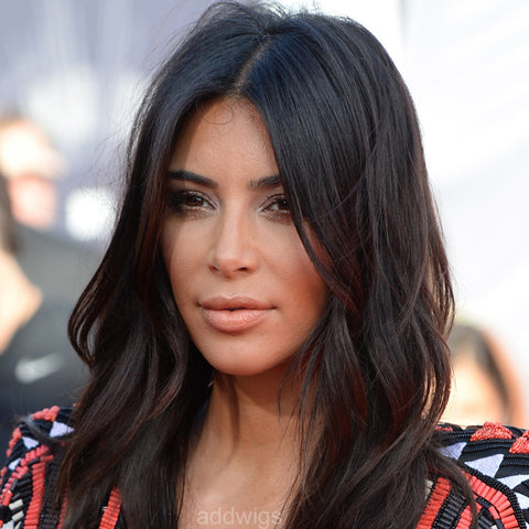 Kim Kardashian Celebrity Customized Wigs Human Hair Lace Wig