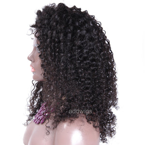 Fashion Tight Curly Silk Top Human Hair Wigs For Black Women