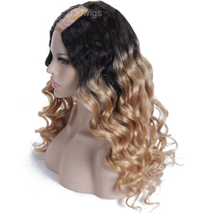 Ombre Wig Strawberry Blonde #27 Color Human Hair U Part Wigs
