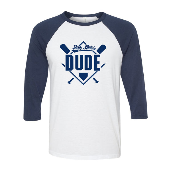 Dirty Slides Dude Men's Raglan Tshirt