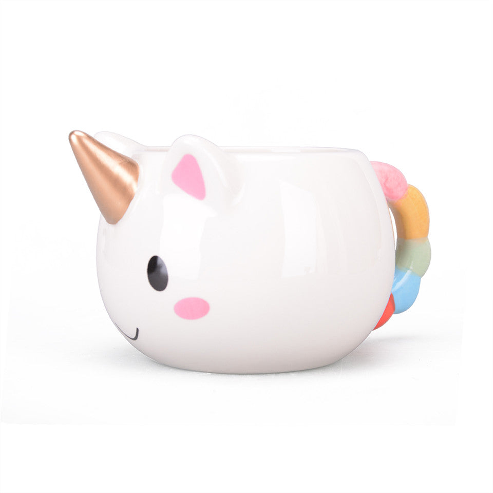 Mug licorne en porcelaine. Mug unicorn design cartoon & mignon