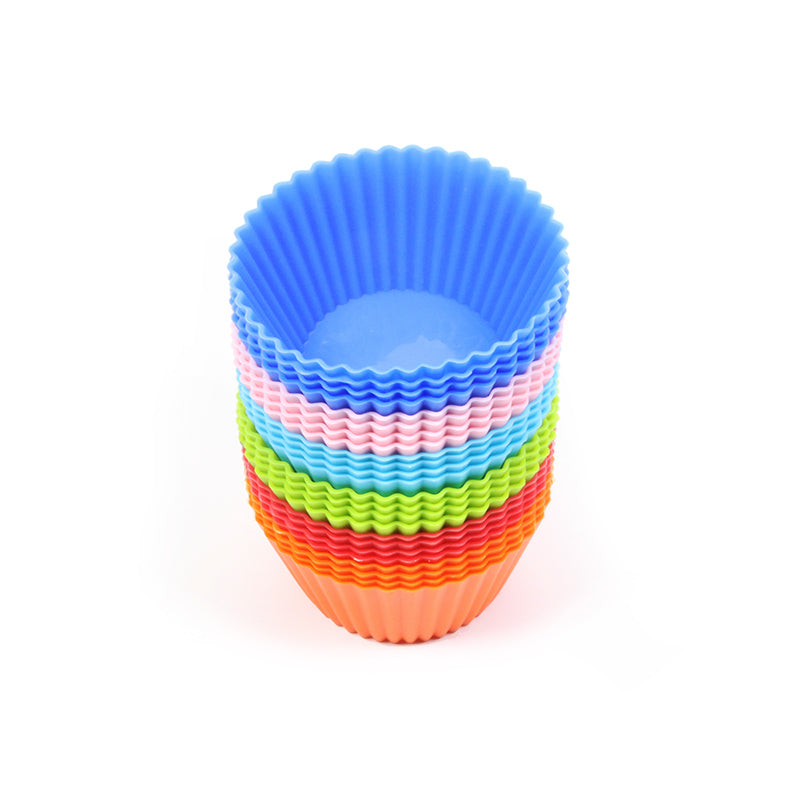 Lot de 24 moules de cuisson réutilisables en silicone. Pâtisserie, Muffin, Cupcake, Brownie...