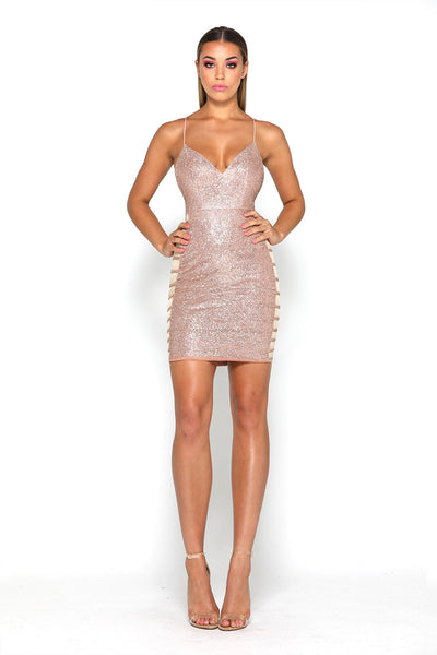 Bella Dress Rose Gold