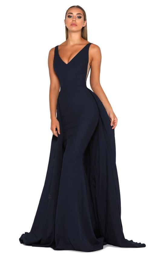 ENDORA GOWN VEE NAVY