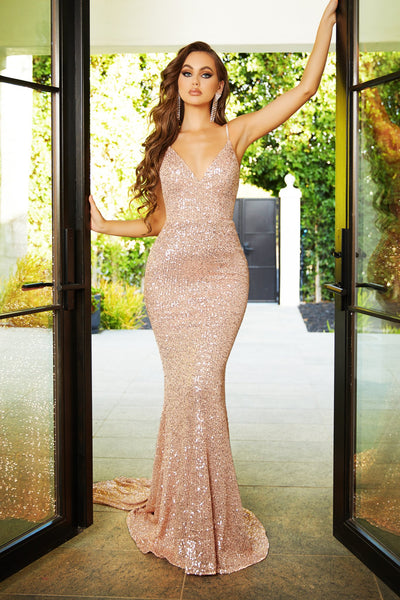 GLISTEN GOWN ROSE GOLD