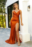 HUGO GOWN BURNT ORANGE