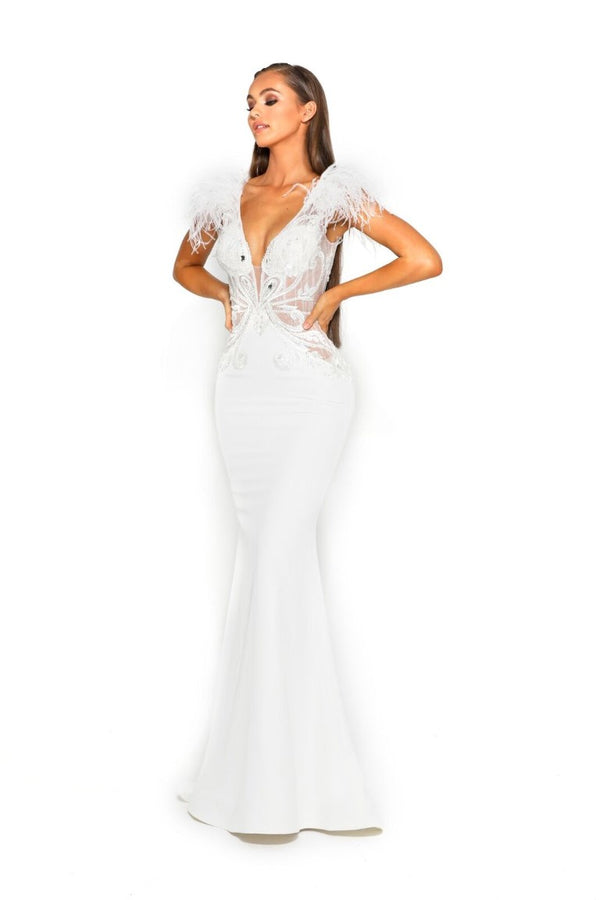 PS1910 WHITE GOWN