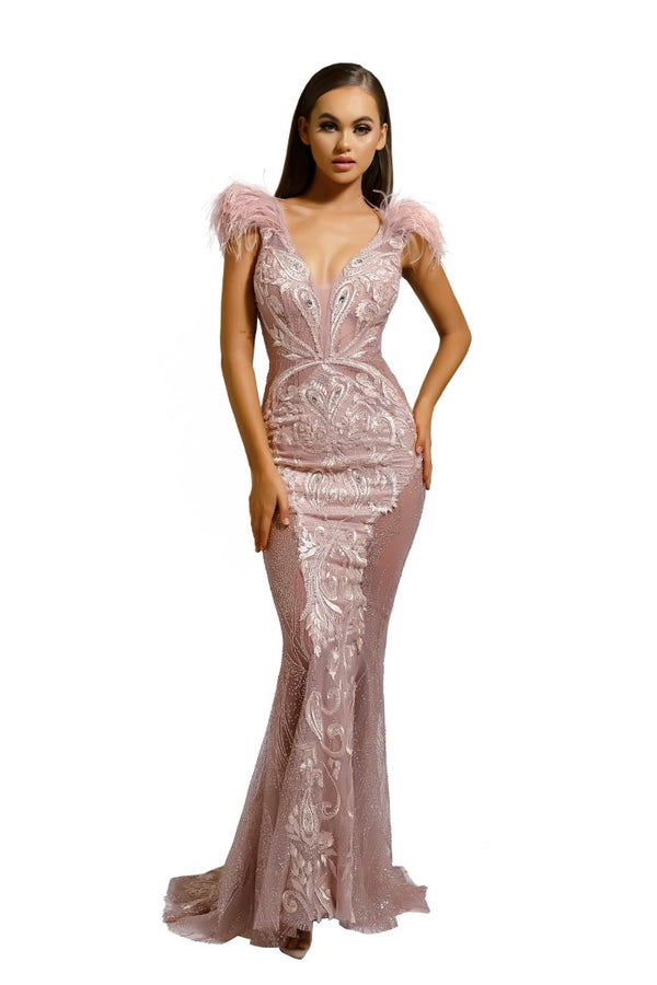 PS1986 FUFU GOWN ROSE GOLD