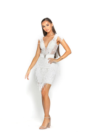 PS2011 WHITE DRESS
