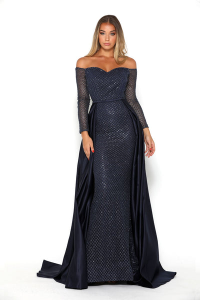 EMERALD GOWN NAVY