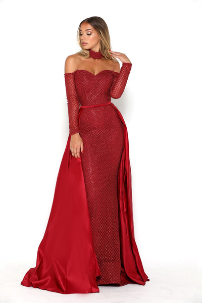EMERALD GOWN RED
