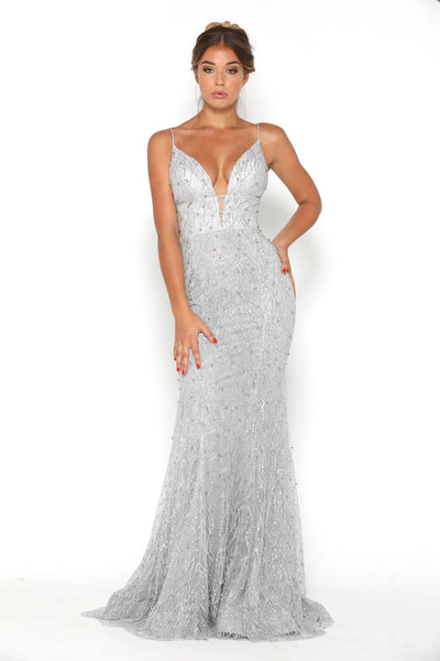 OLIVIA GOWN SILVER