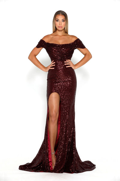 Diamond Gown 69 Burgundy