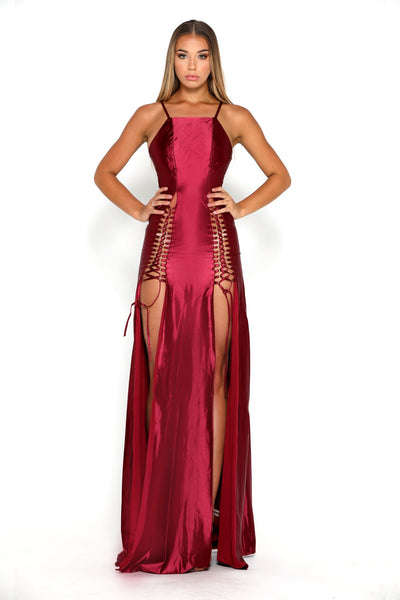 Chantel Dress Burgundy