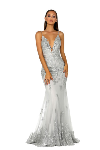 PS5005 GOWN SILVER/SILVER