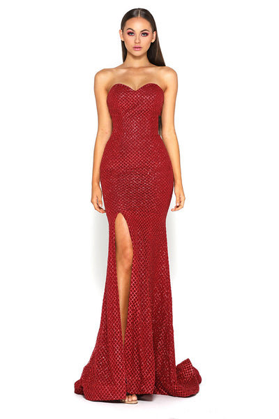 Tyra Gown Red