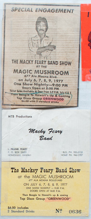 Aloha Got Soul: Mackey Feary, Greenwood at the Magic Mushroom