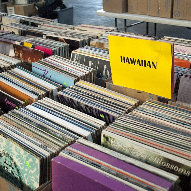 Dig deeper: crate digging in Hawaii.