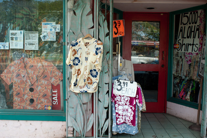 Vintage Aloha Shirts at Bailey's Antiques
