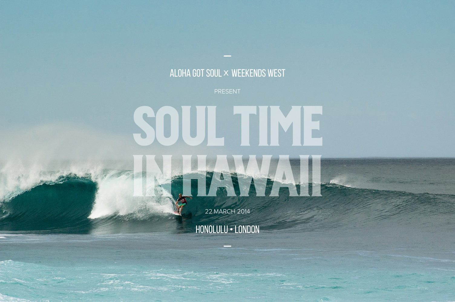 Soul Time In Hawaii - flyer front