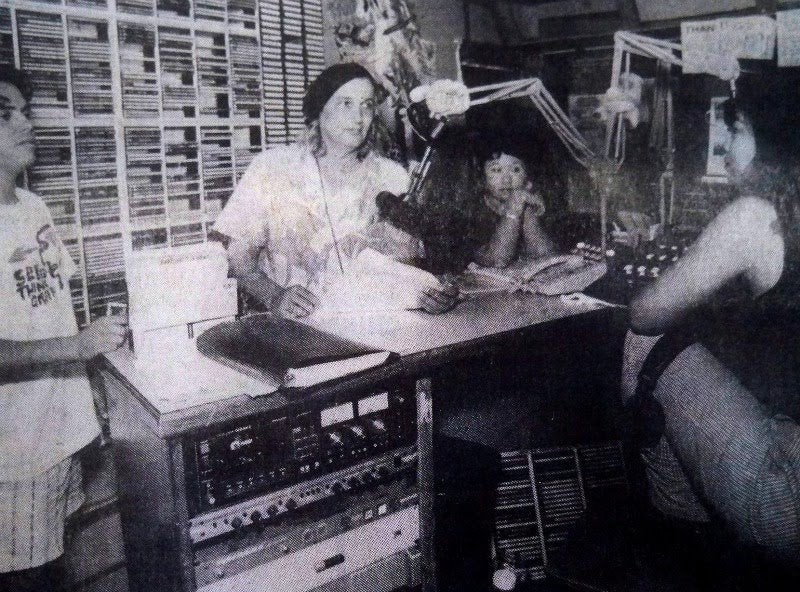 Norm Winter at the Radio Free Hawaii studio