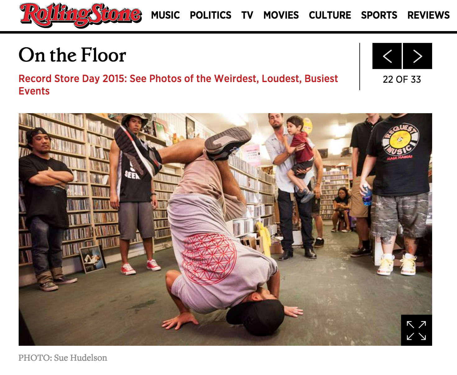 Rolling Stone featured Request Music on Record Store Day 2015.