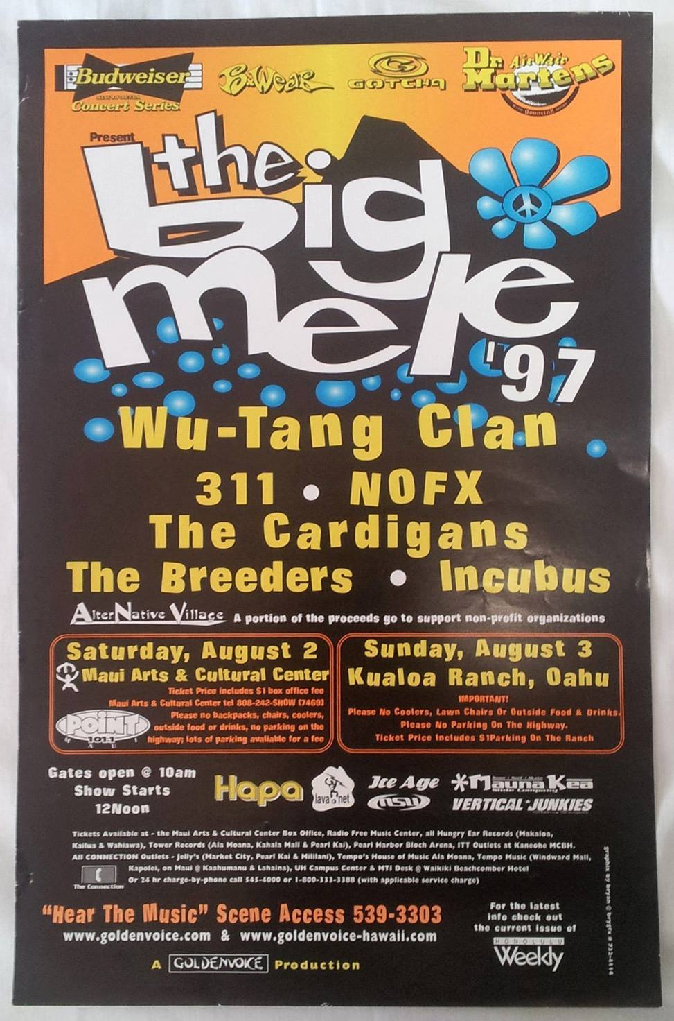 The Big Mele 1997 Concert Poster.