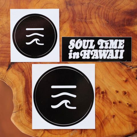 Sticker Pack: Aloha Got Soul / Soul Time in Hawaii (Made in USA)