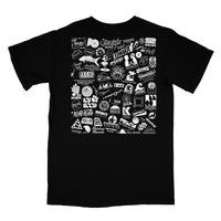Hawaii Record Label Logos T-Shirt (Black)