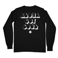 """Disco Island"" Long Sleeve T-Shirt — Black"