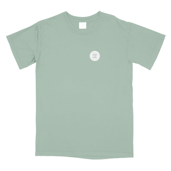 Hawaii Record Label Logos T-Shirt (Muted Green)