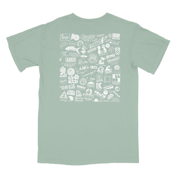 Label Logos T-Shirt (Muted Green) [S only]