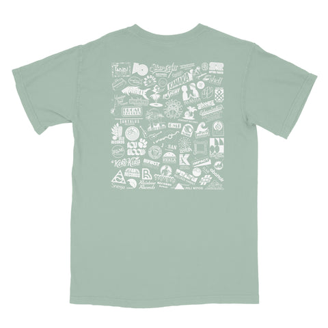 Label Logos T-Shirt (Muted Green)