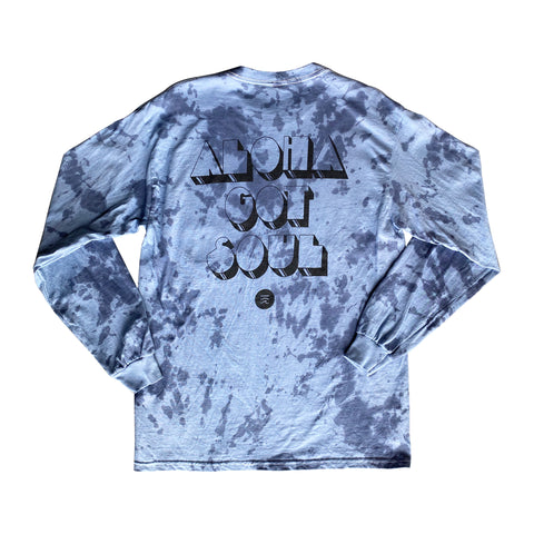 Disco Island Long Sleeve Shirt — (Tie Dye Blue)