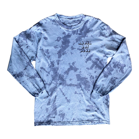 "Tie Dye ""Disco Island"" Long Sleeve T-Shirt — (Sky Blue Tie Dye)"
