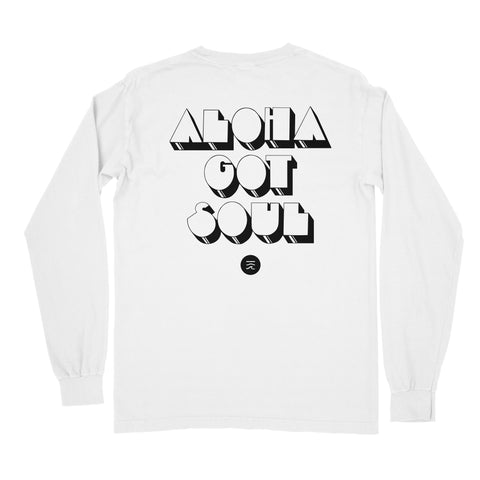 """Disco Island"" Long Sleeve T-Shirt — White"