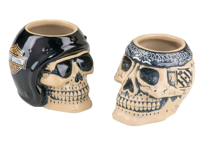 H-D Skull Rider Shot Glass Set