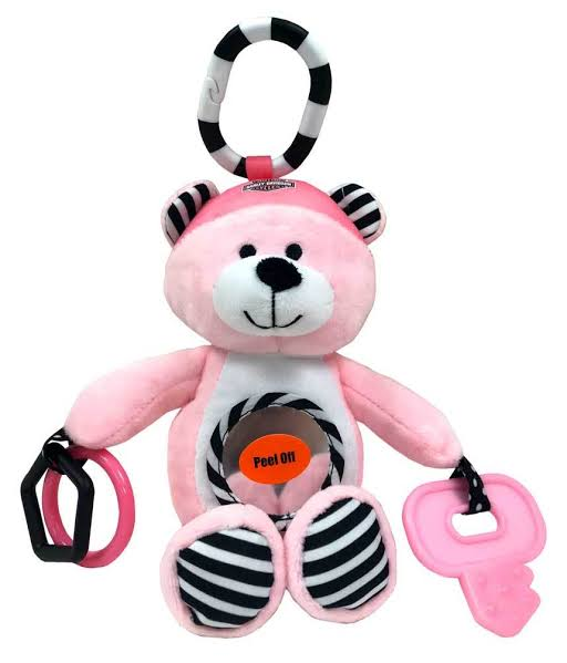 "Pinkie Bear 9"" Newborn Sensory Plush Toy"