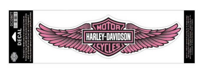 Pink Straight Wing Bar & Shield® Decal