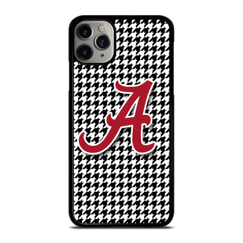ALABAMA HOUNDSTOOTH CRIMSON TIDE-iphone-11-pro-max-case