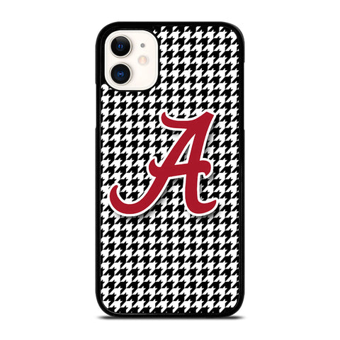ALABAMA HOUNDSTOOTH CRIMSON TIDE iPhone 11 Case