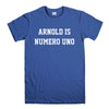 ARNOLD IS NUMERO UNO-mens-t-shirt-Blue