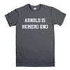 ARNOLD IS NUMERO UNO-mens-t-shirt-Charcoal