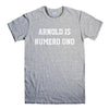 ARNOLD IS NUMERO UNO-mens-t-shirt-Gray